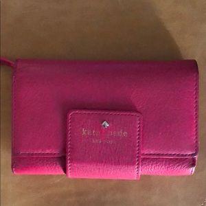 Kate Spade bright pink wallet